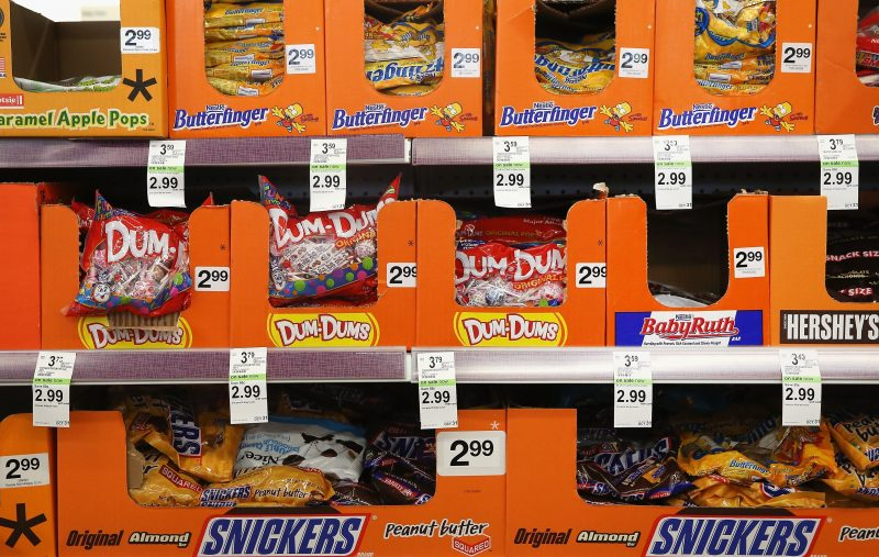 Halloween candy at a Walgreens store on September 19, 2013 in Wheeling, Illinois.