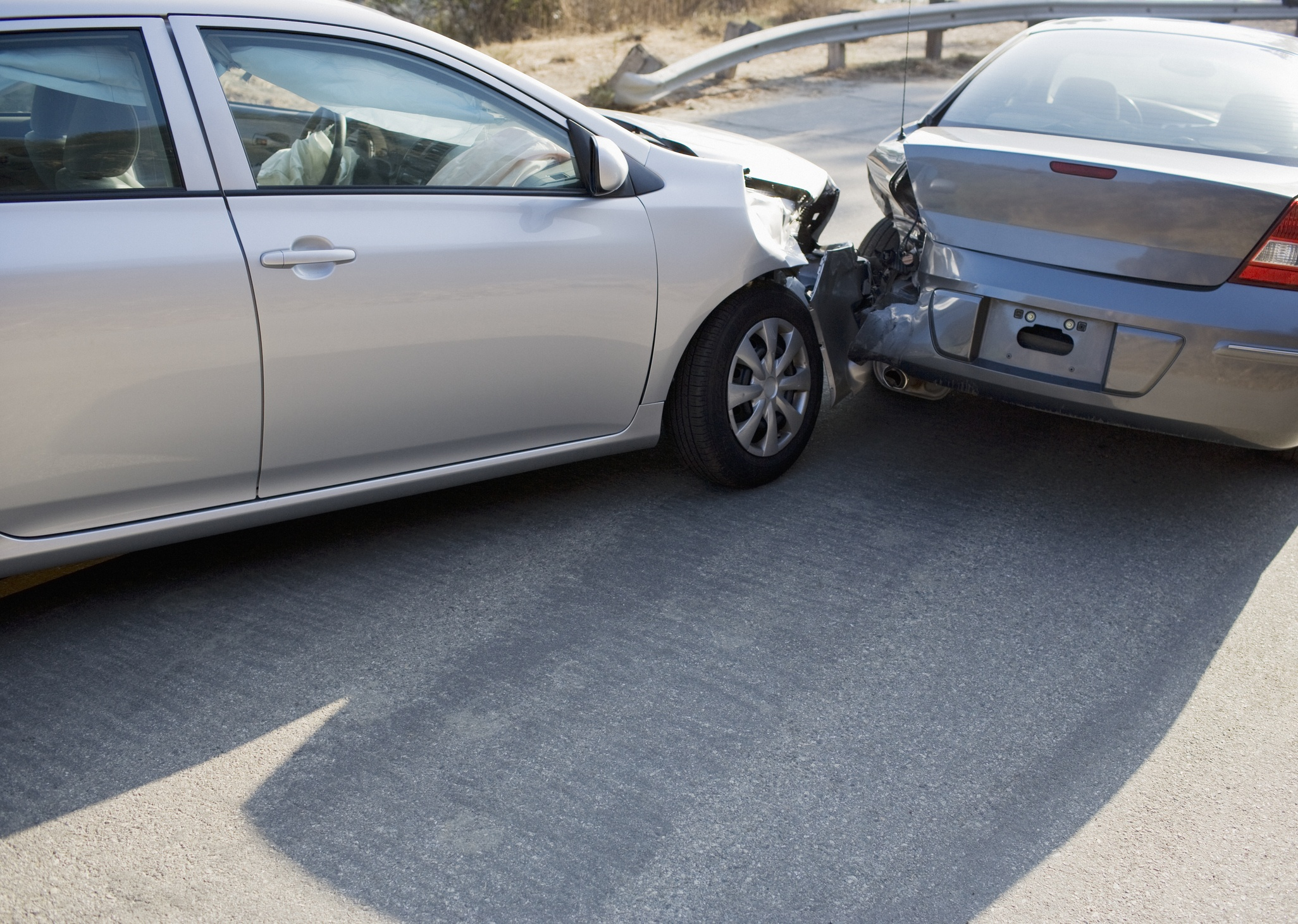 Two cars in crash