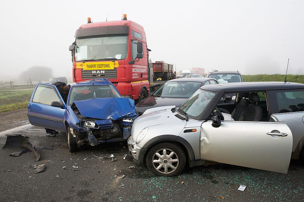 Car crash in Belgium