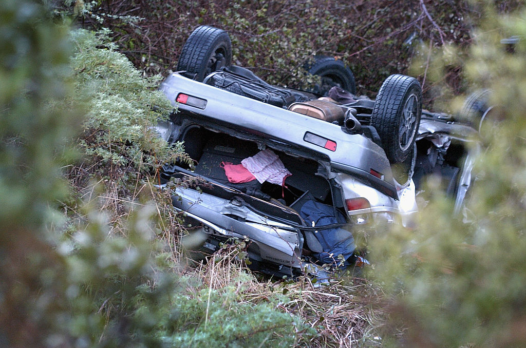 Car rollover crash