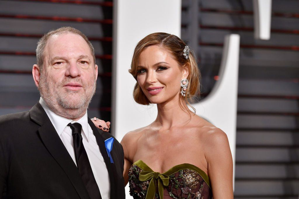 Harvey Weinstein and Georgina Chapman attend the 2017 Vanity Fair Oscar Party hosted by Graydon Carter at Wallis Annenberg Center for the Performing Arts on February 26, 2017 in Beverly Hills, California.