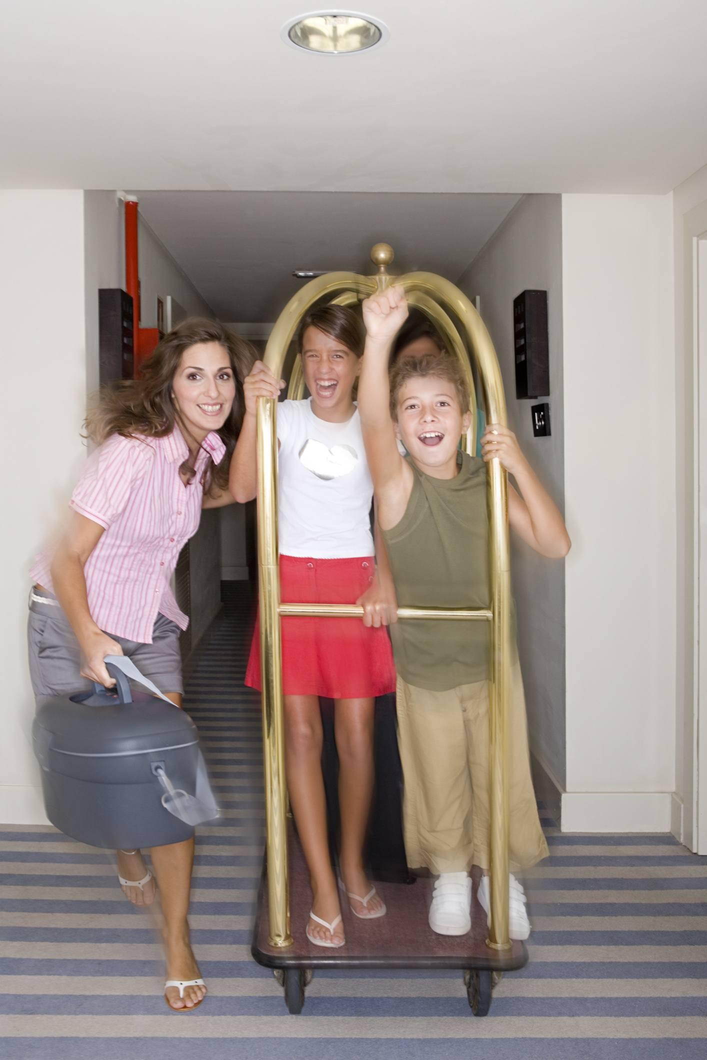Children making noise in the hallway