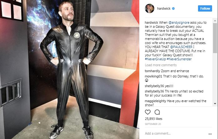 chris hardwick in an instagram post