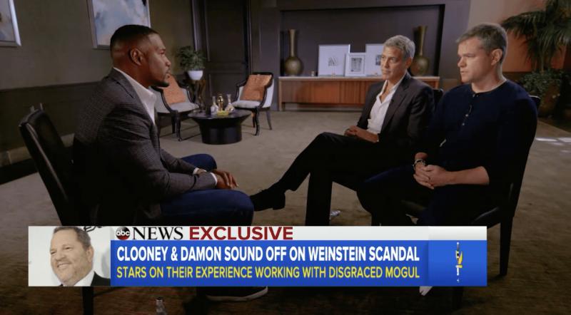 Good Morning America Scandal : Harvey weinstein george clooney and matt damon speak out