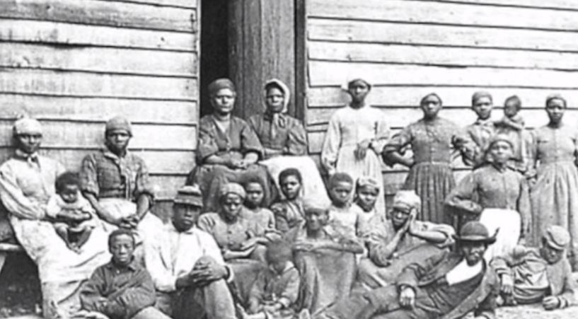 An image of the people of Colfax, Louisiana circa 1873