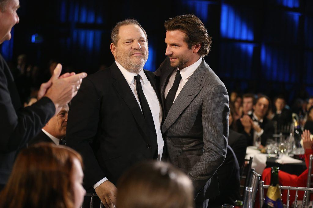 Harvey Weinstein and Bradley Cooper at the Critics' Choice Awards