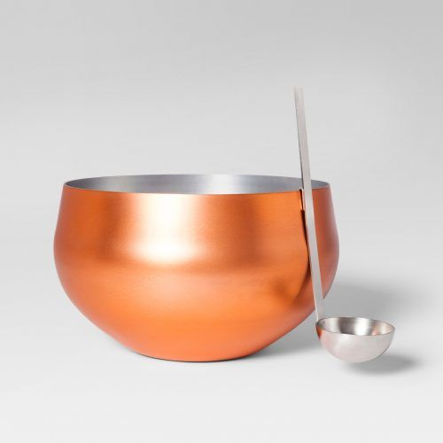 Target copper punch bowl