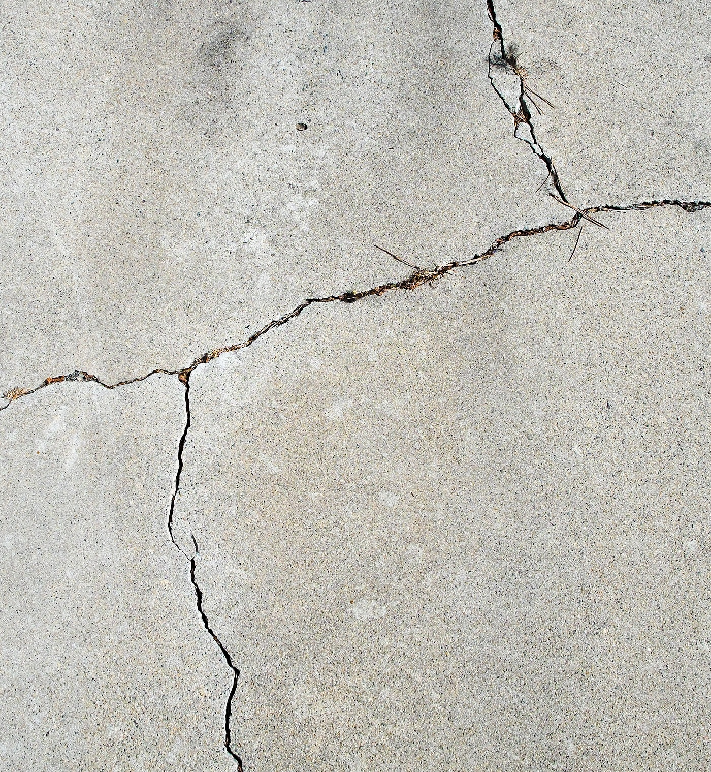 Cracked driveway