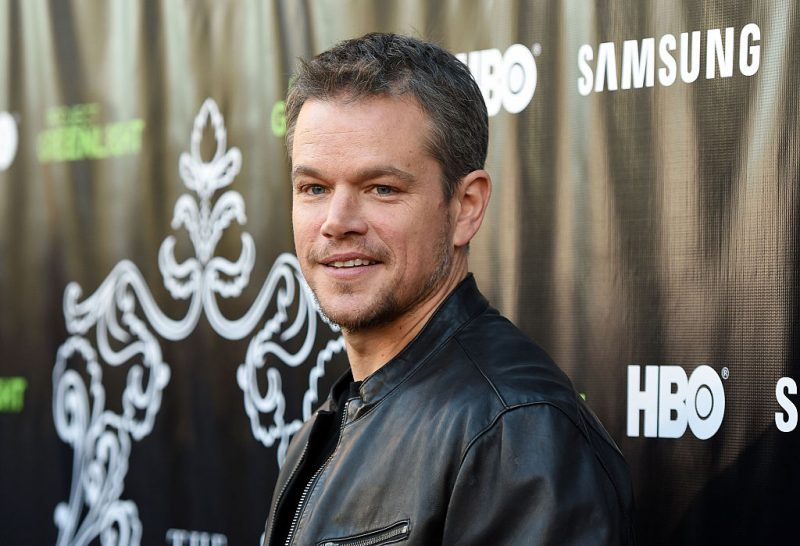 """LOS ANGELES, CA - AUGUST 10: Actor Matt Damon attends the Project Greenlight Season 4 Winning Film premiere """"The Leisure Class"""" presented by Matt Damon, Ben Affleck, Adaptive Studios and HBO at The Theatre at Ace Hotel on August 10, 2015 in Los Angeles, California."""