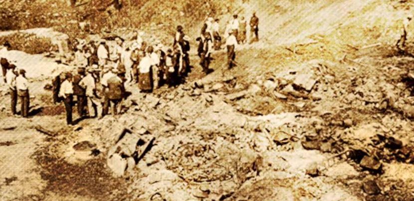 A mass grave site following the East St. Louis race riots.