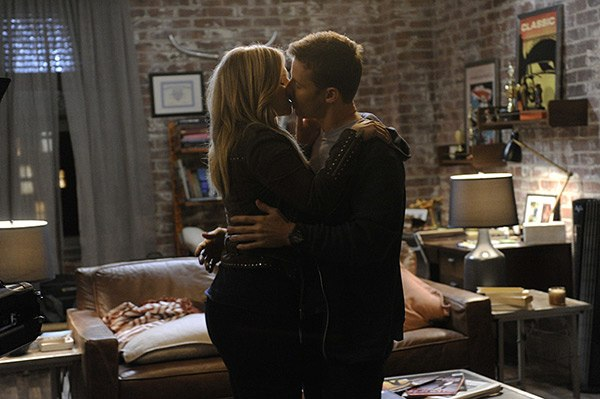 Eddie and Jamie kiss on Blue Bloods