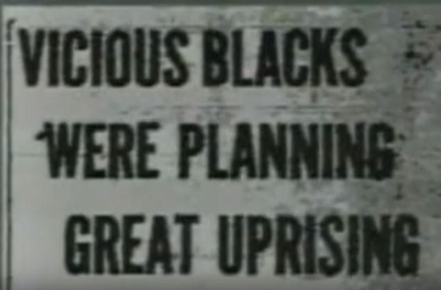 A newspaper headline from Elaine, Arkansas