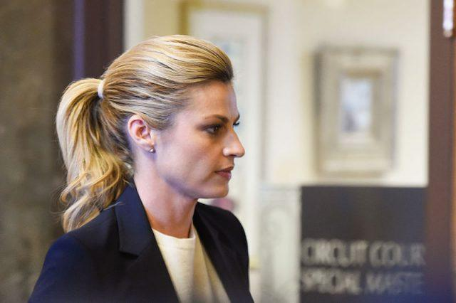 Erin Andrews leaving a courtroom.