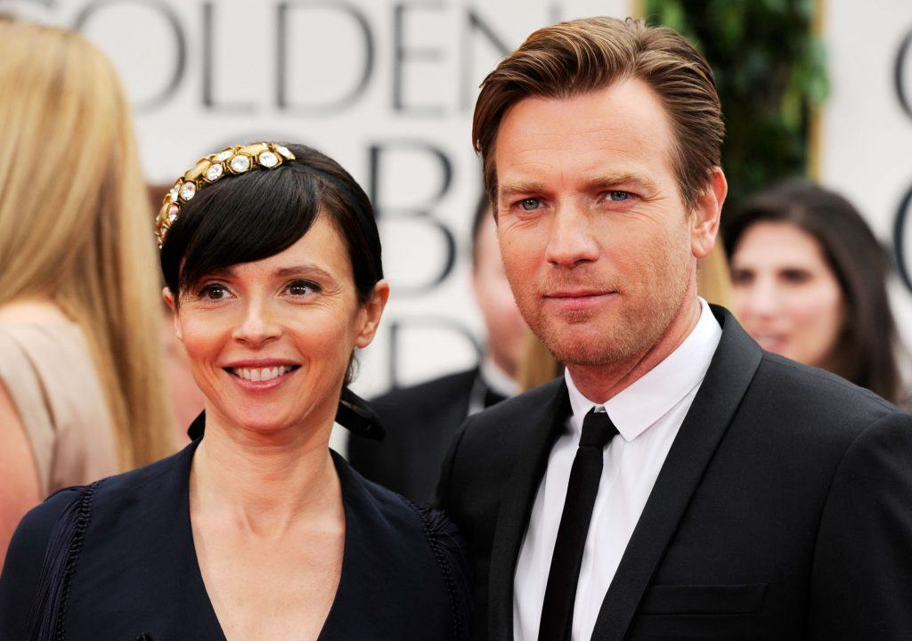Ewan McGregor and Eve Mavrakis arrive at the 69th Annual Golden Globe Awards held at the Beverly Hilton Hotel on January 15, 2012 in Beverly Hills, California.