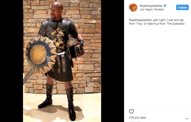 floyd mayweather as a gladiator