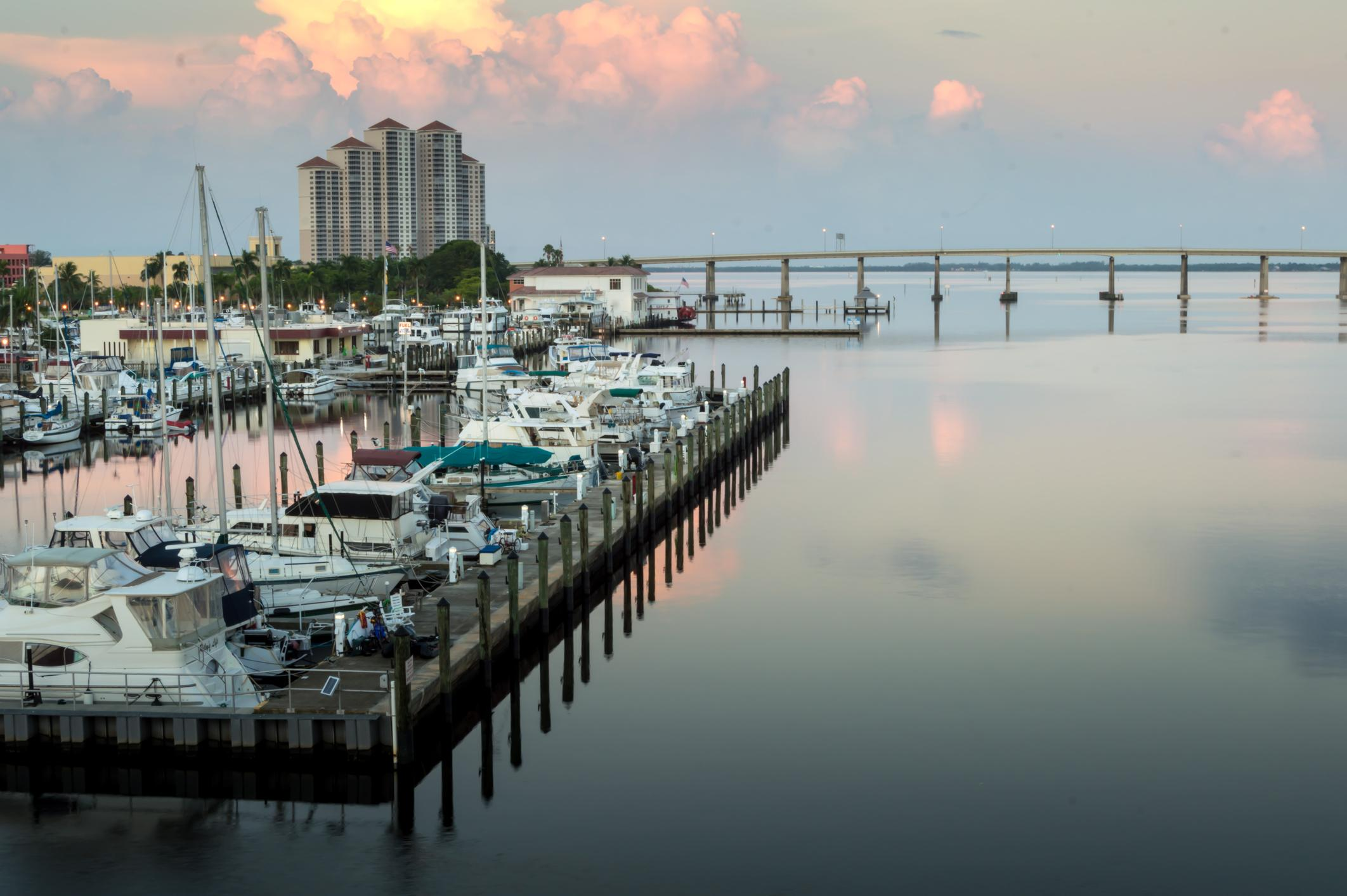 Boat dock in Fort Myers, Florida