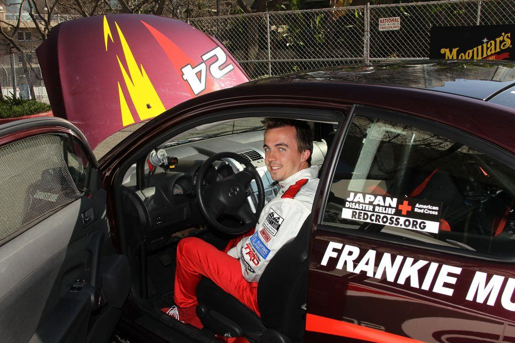 Frankie Muniz at the the 35th Annual Toyota Pro/Celebrity Race practice in 2011
