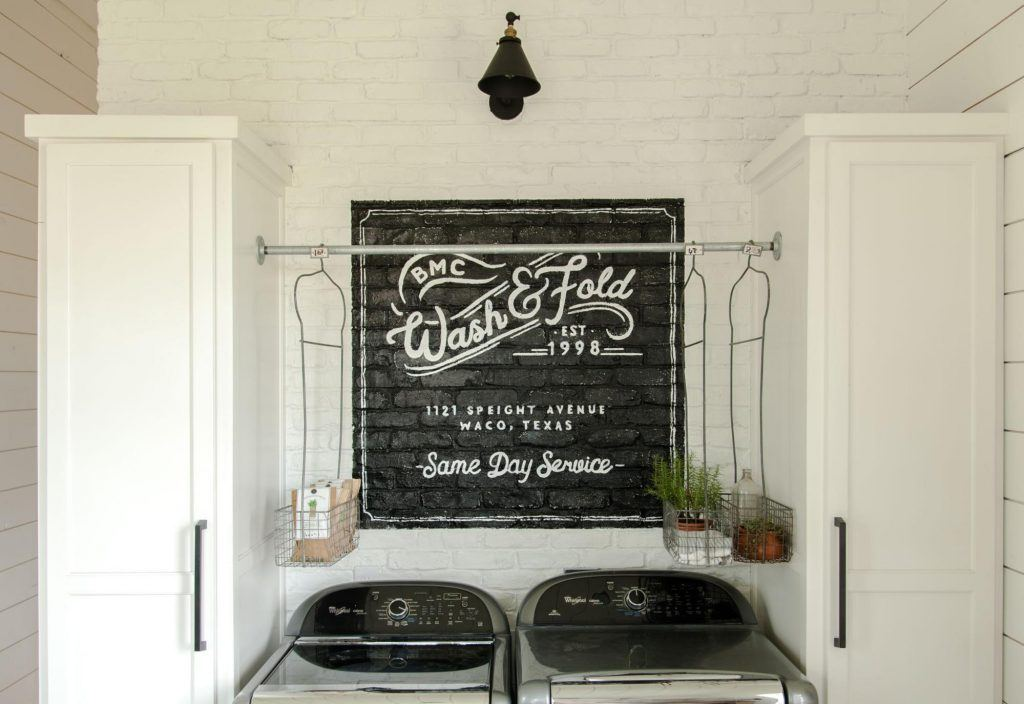 Chip and Joanna Gaines' laundry room