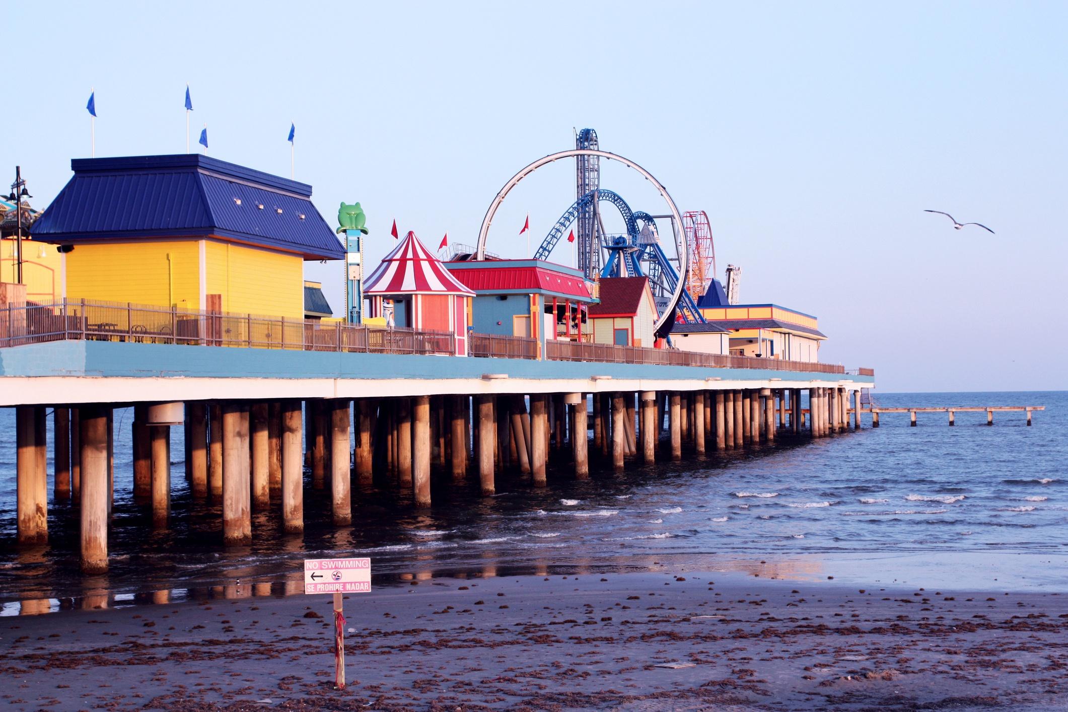 Galveston Texas boardwalk