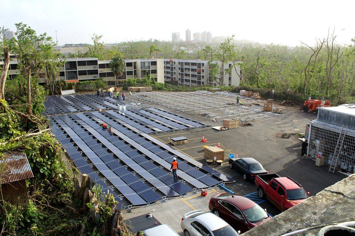 Solar panels hospital