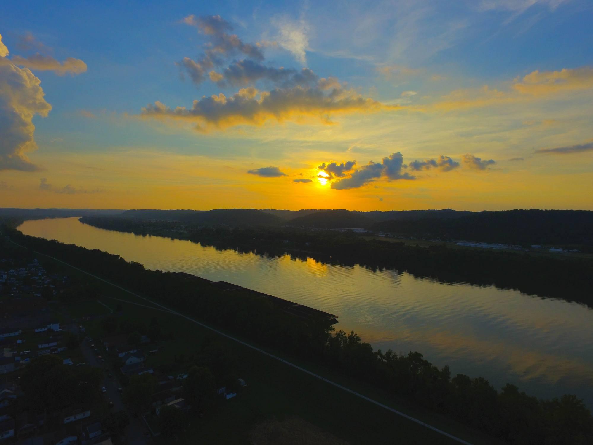 Huntington West virginia sunset
