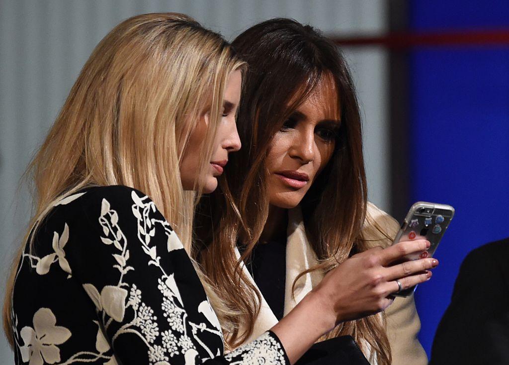 Ivanka and Melania Trump Phone