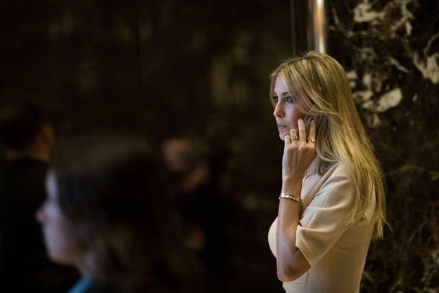 Ivanka Trump talking on a phone.