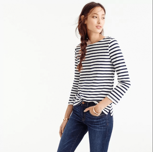 J. Crew sriped sweater