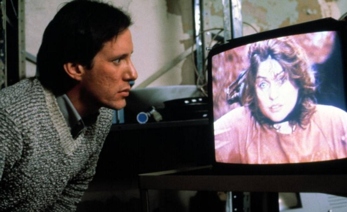 James Woods and Debbie Harry in Videodrome