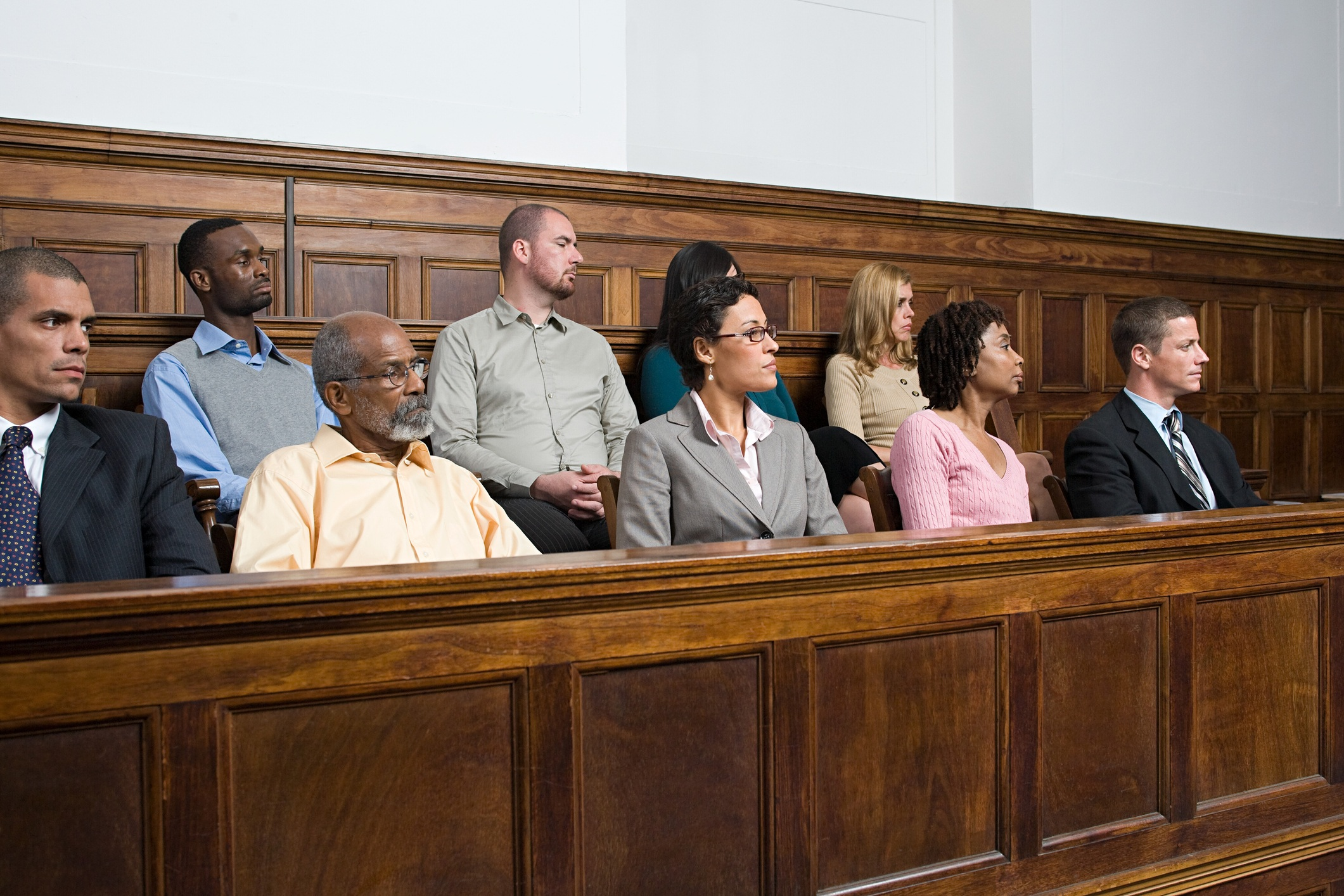 Jurors during trial