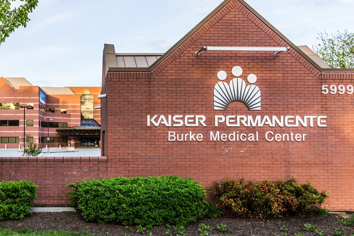 Kaiser Permanente at Burke Medical Center sign on brick wall