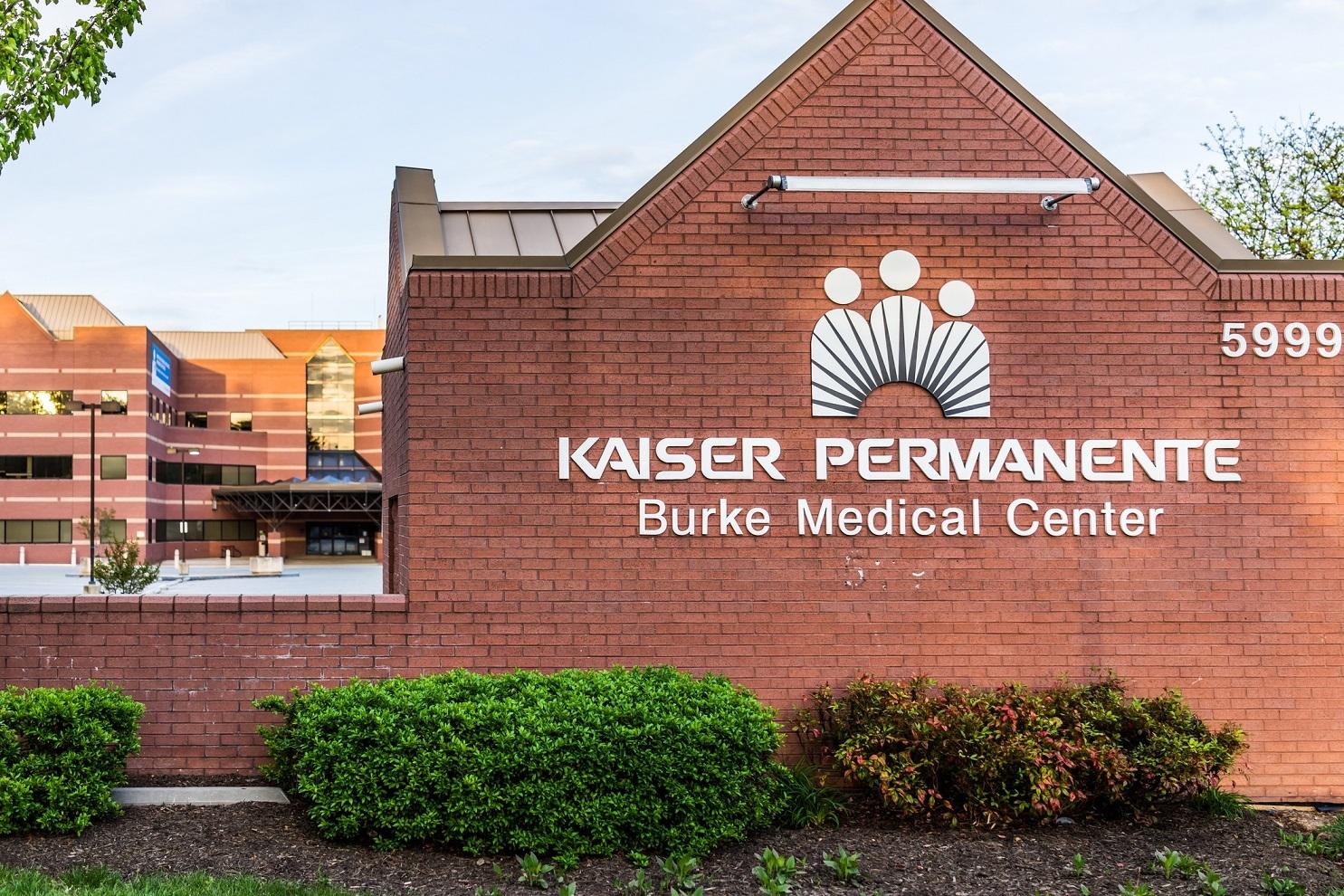 Kaiser Permanente at Burke Medical Center sign on brick wall