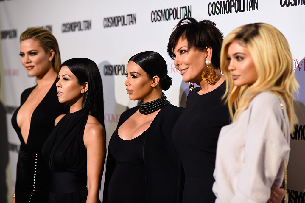 Khloe, Kourtney, Kim, Kris, Kylie attend Cosmopolitan's 50th Birthday Celebration at Ysabel on October 12, 2015 in West Hollywood, California. | Frazer Harrison/Getty Images for Cosmopolitan