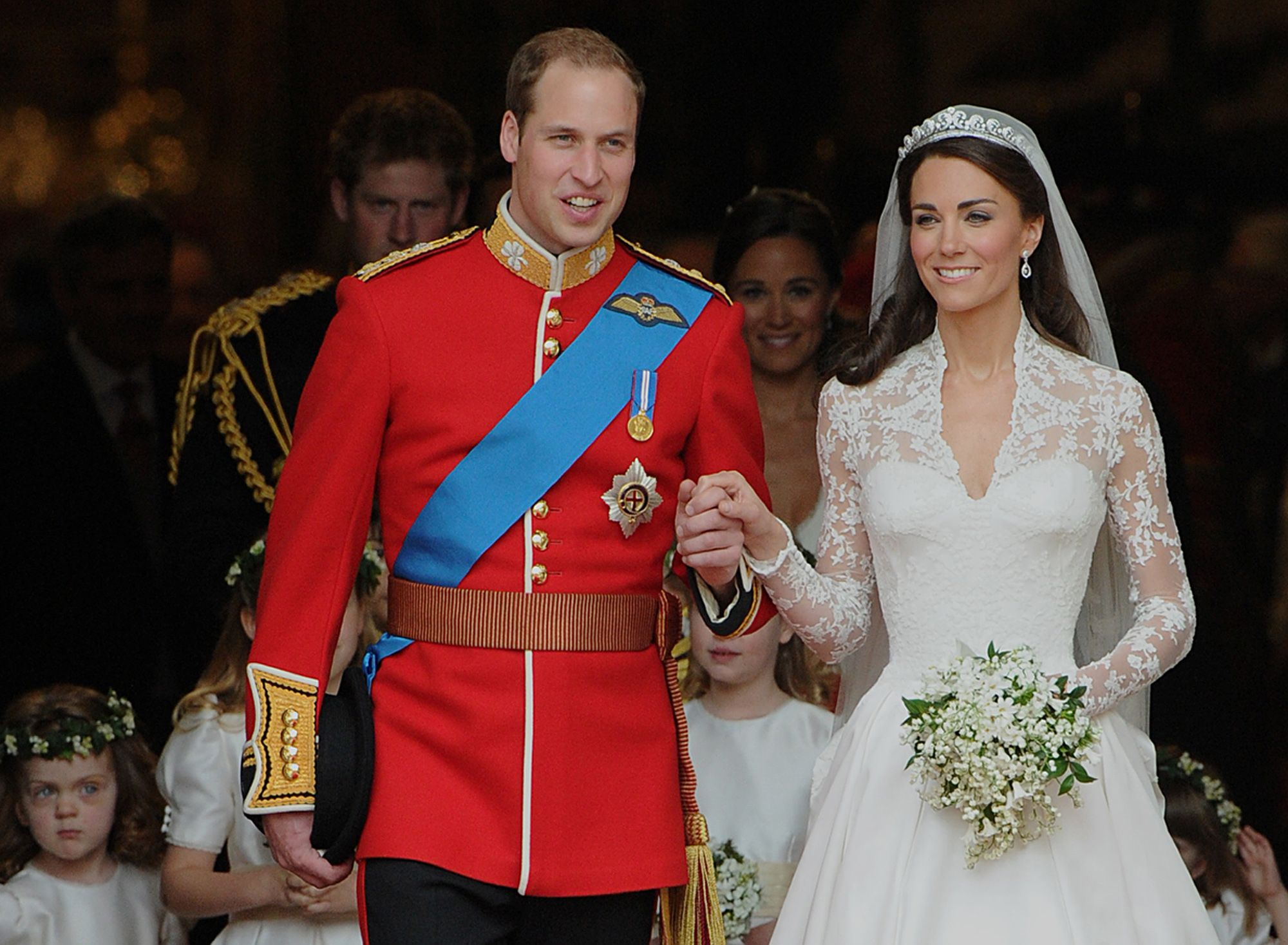 Kate Middleton and Prince William at their wedding