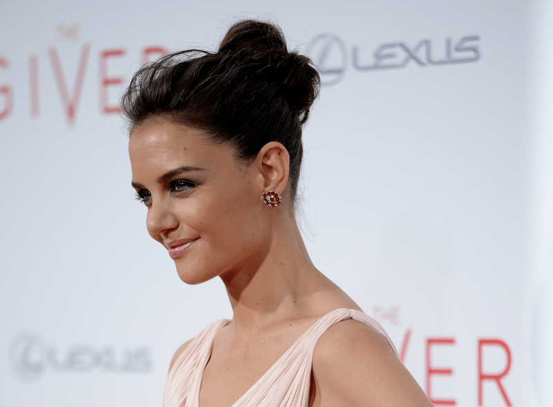 Actress Katie Holmes attends 'The Giver' premiere at Ziegfeld Theater on August 11, 2014 in New York City