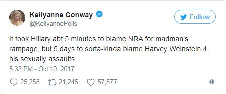 A tweet from Kellyann Conway
