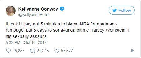 A tweet from Kellyann Conway