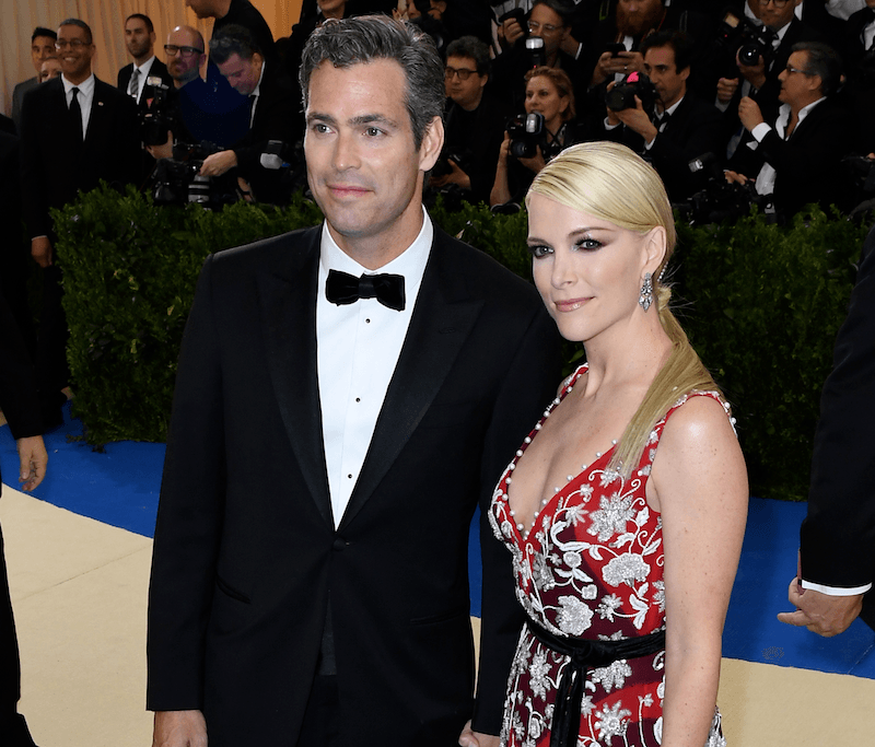 Megyn Kelly and Douglas Brunt arrive for the Costume Institute Benefit May 1, 2017 at the Metropolitan Museum of Art in New York.