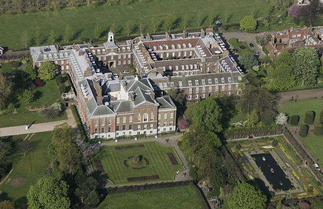 Kensington Palace seen from above.