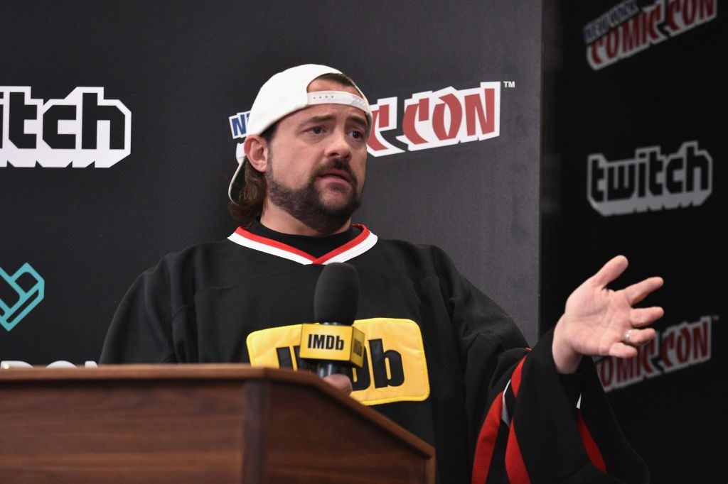 Kevin Smith hosts IMDb LIVE at NY Comic-Con at Javits Center on October 7, 2017 in New York City