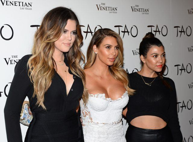 Kim, Khloe, and Kourtney Kardashian.