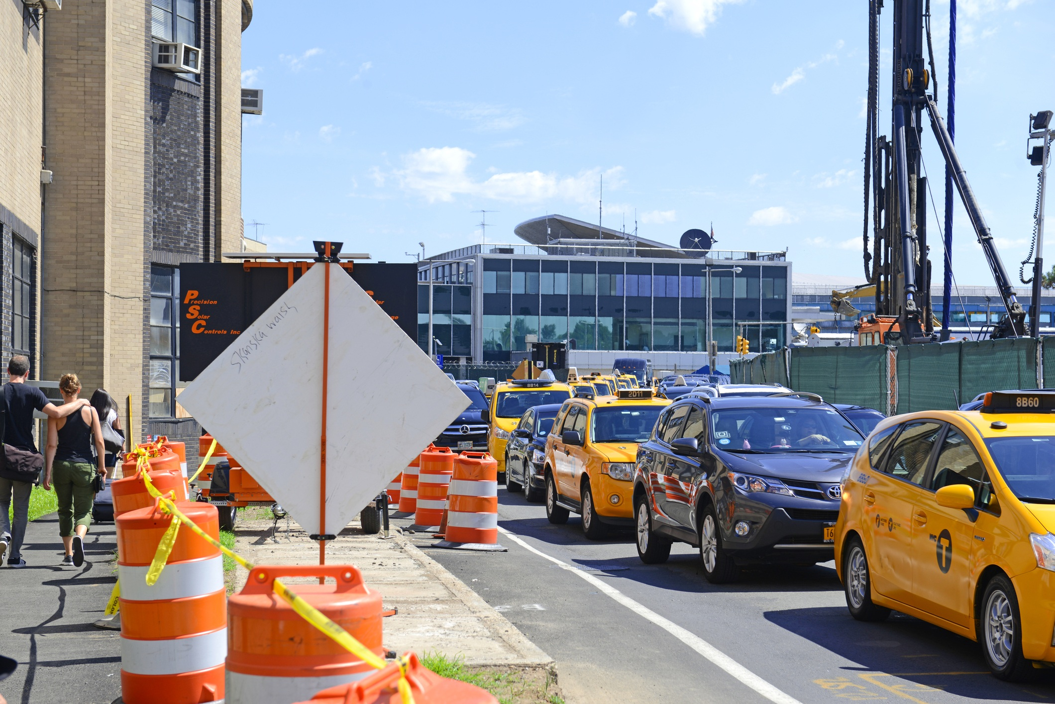 road outside LaGuardia Airport