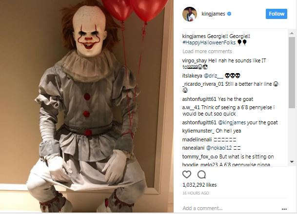 LeBron James as Pennywise