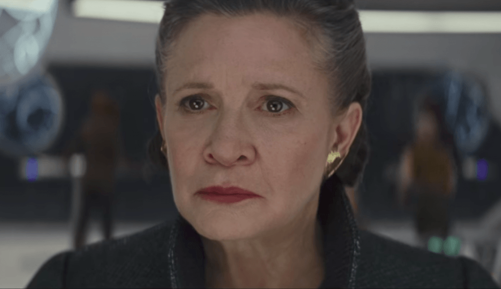 Leia in the trailer for Star Wars: The Last Jedi