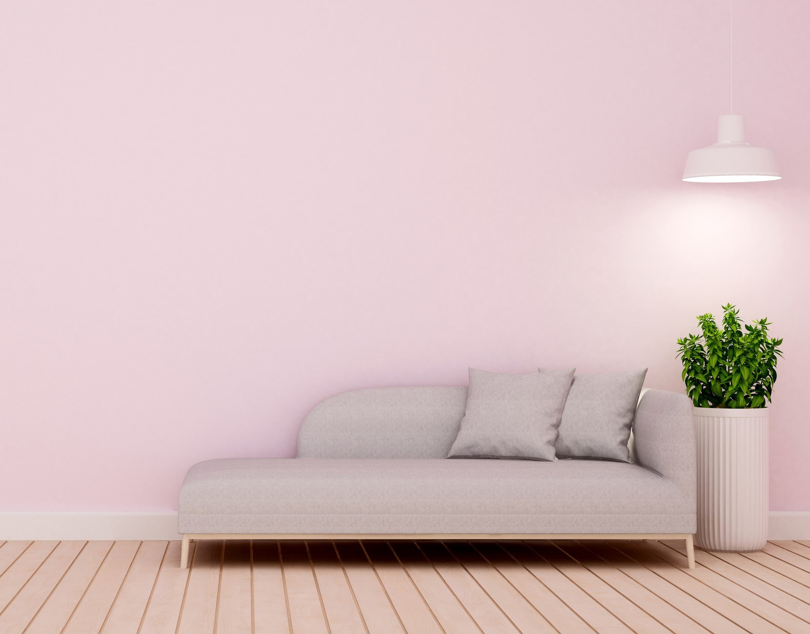 Light pink living room