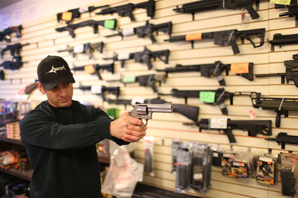 Guns on wall