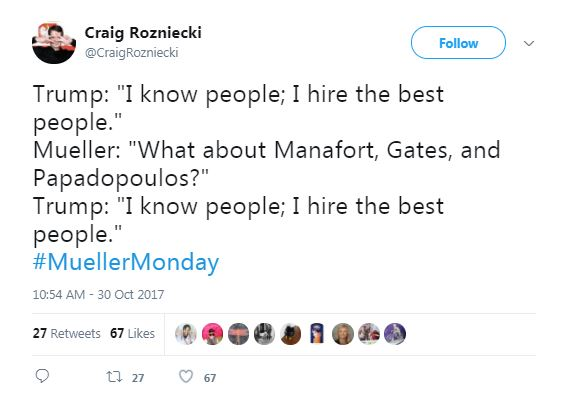 tweet about trump hiring the best people