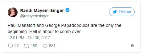 a tweet about manafort and papadopoulos