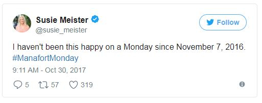 a tweet about manafort and November 7