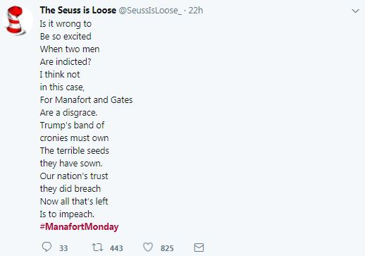 a manafort tweet in seuss rhyme
